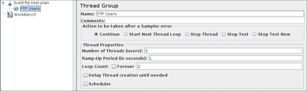 Apache JMeter - User's Manual: Building an FTP Test Plan