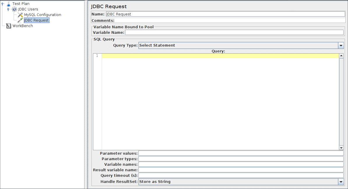 Apache JMeter - User's Manual: Building a Simple Database