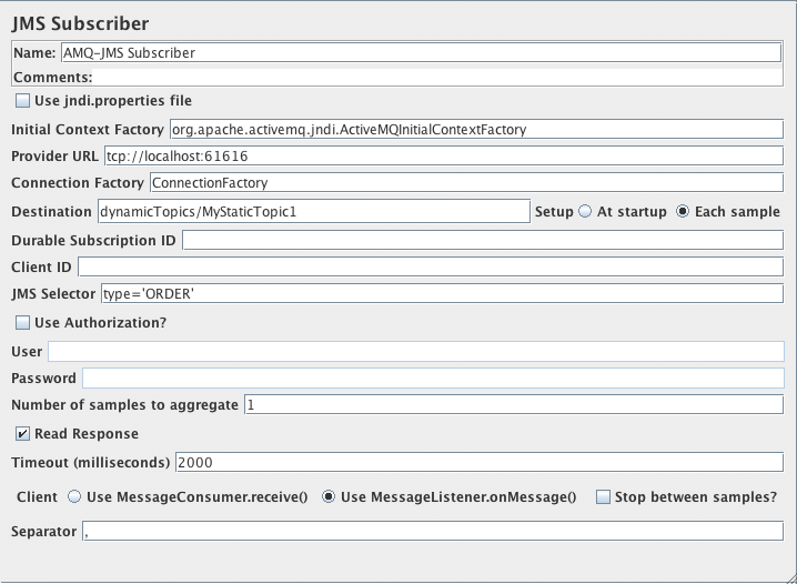 Apache JMeter - User's Manual: Building a JMS (Java Messaging
