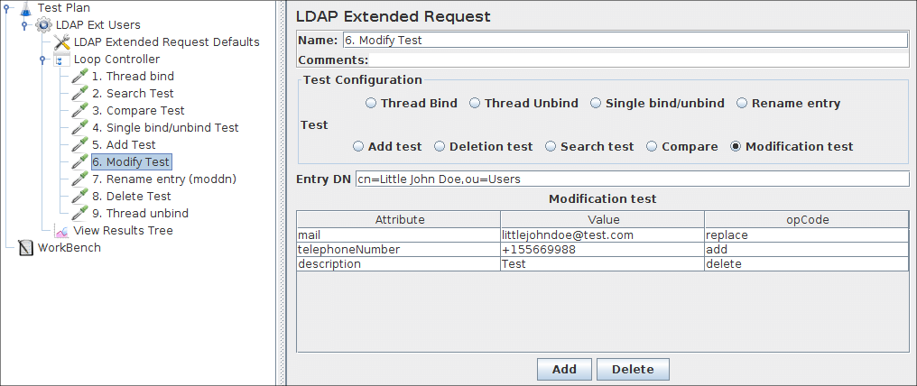 Apache JMeter - User's Manual: Building an Extended LDAP