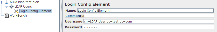 Figure 8a.2 Login Config Element for our Test Plan