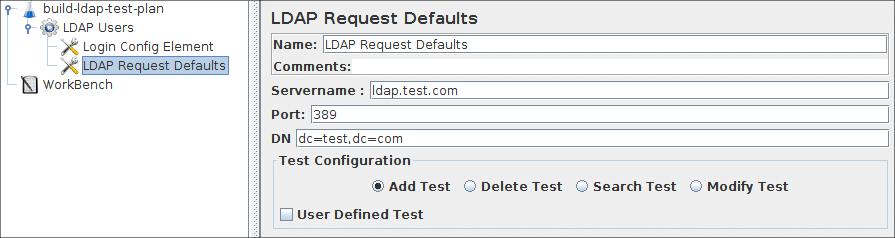 Apache JMeter - User's Manual: Building an LDAP Test Plan