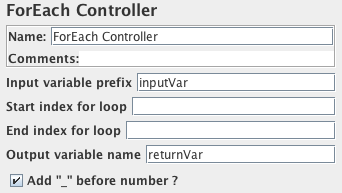 Screenshot for Control-Panel of ForEach Controller