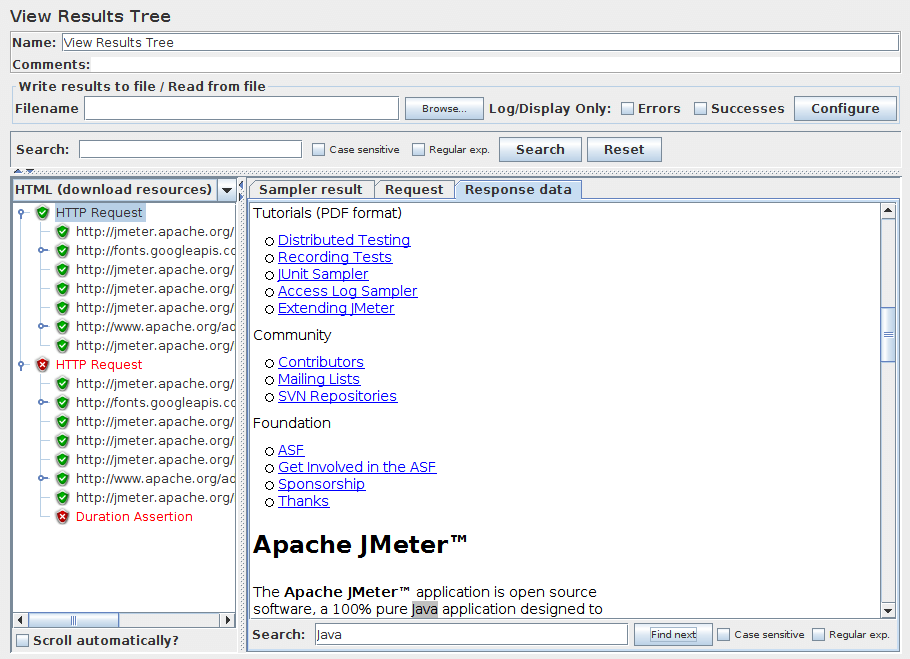 Apache JMeter - User's Manual: Component Reference