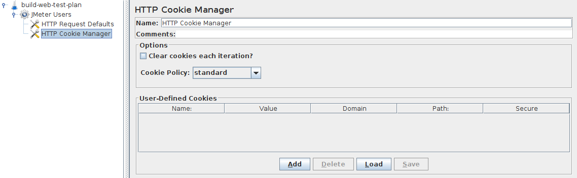 Figure 4.5. HTTP Cookie Manager