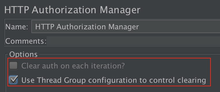 Figure 4.12. Use Thread Group to control Authorization Manager